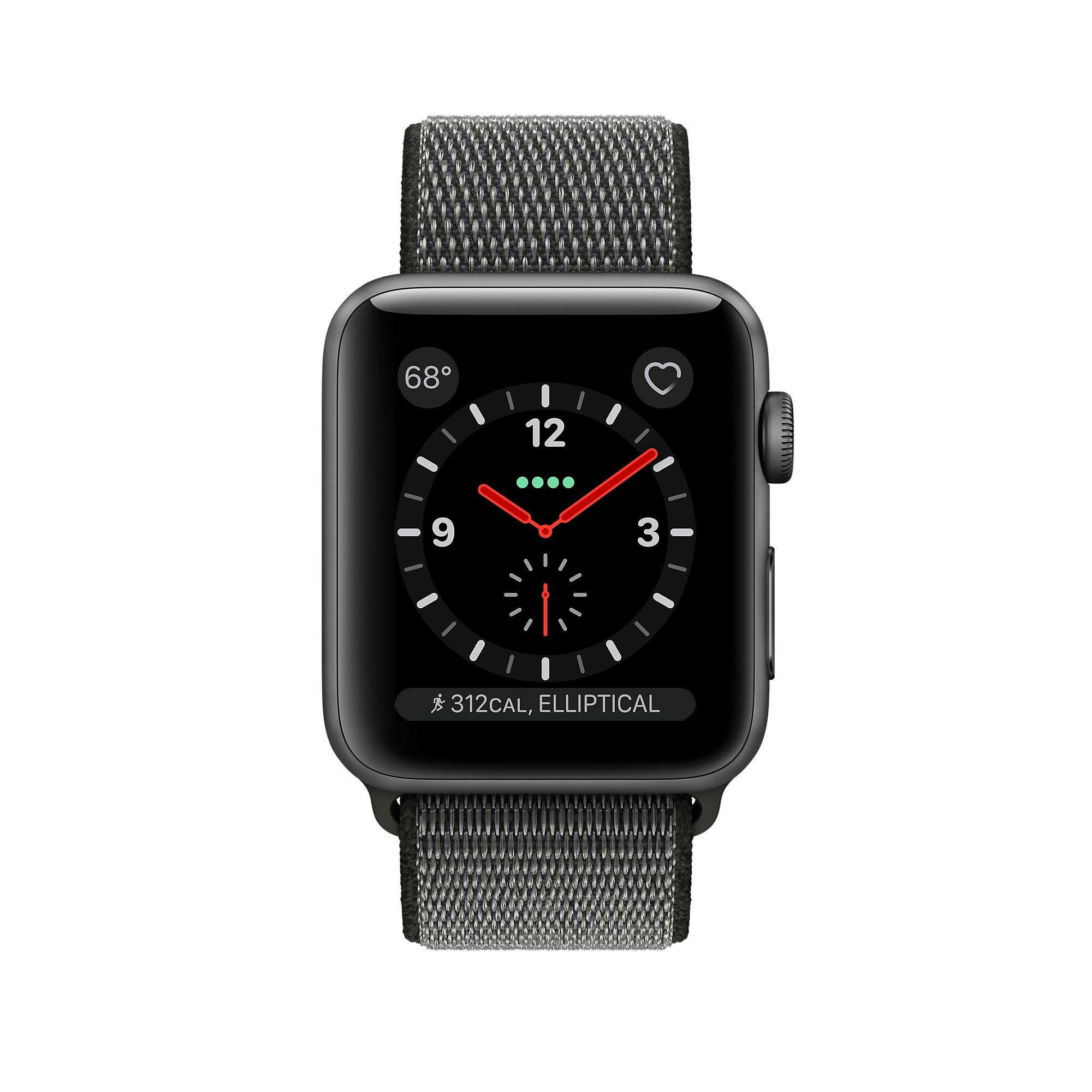 promo code a93d1 dd816 Apple Watch Space Gray Aluminum Dark Olive Sport Loop