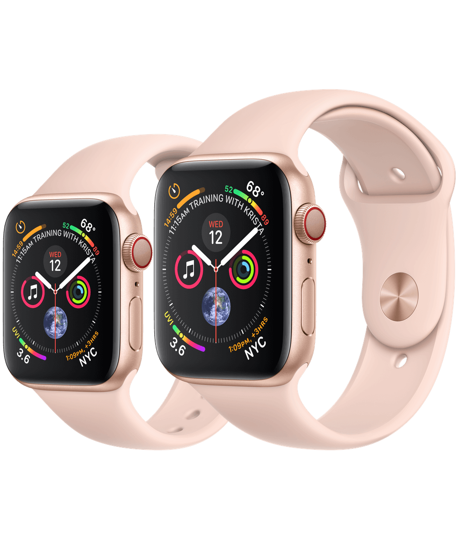 quality design 87fae 1a0a4 Apple Watch Gold Aluminum Case with Pink Sand Sport Band