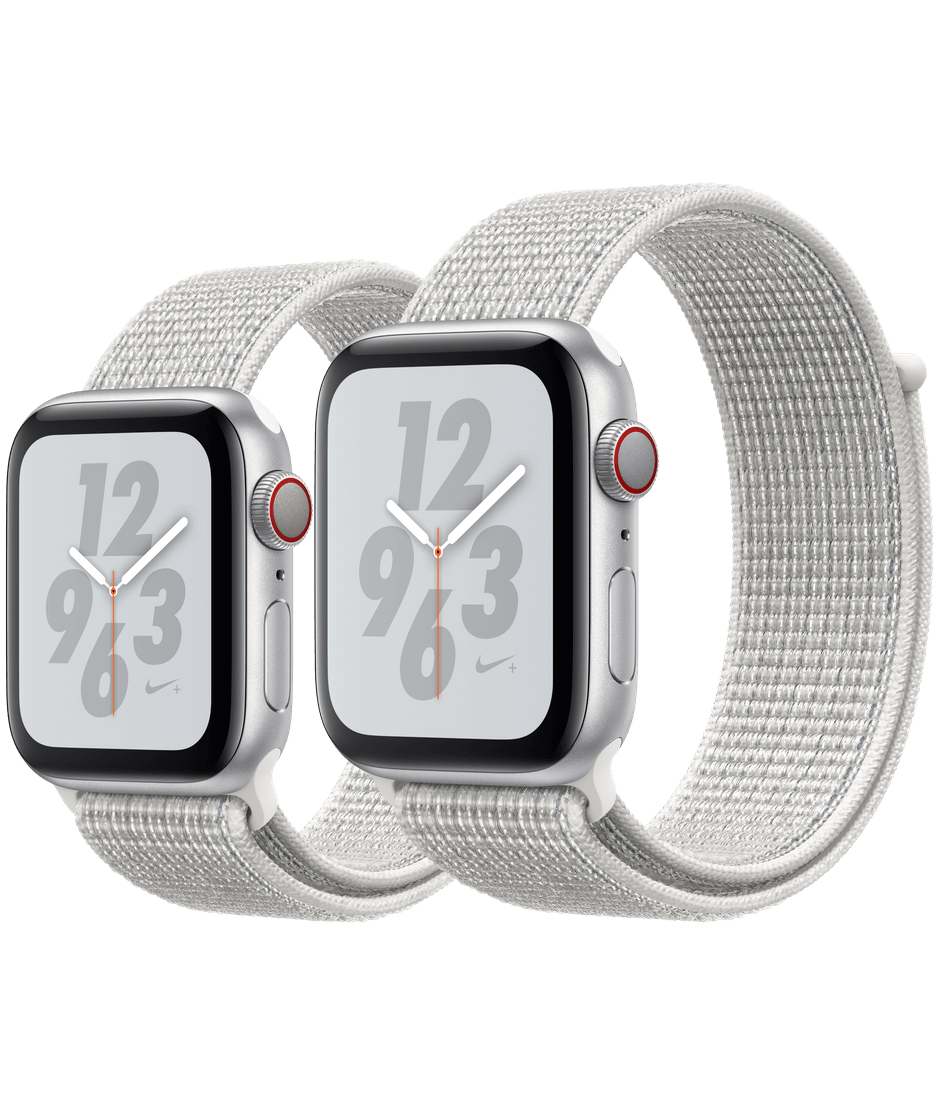 new style 4a6c9 7bdb3 Apple Watch Nike+ Silver Aluminum Case with Summit White Nike Sport Loop
