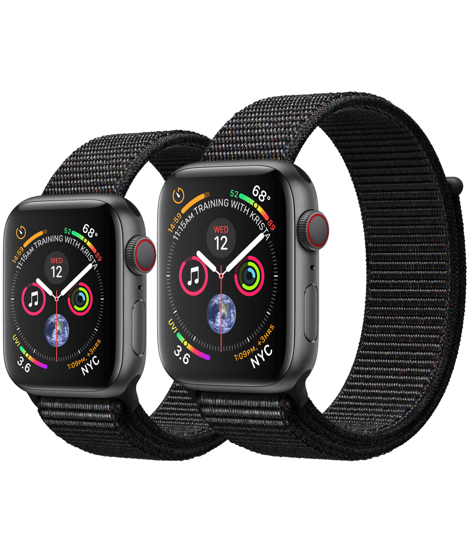 hot sale online 305ca 27073 Apple Watch Space Gray Aluminum Case with Black Sport Loop