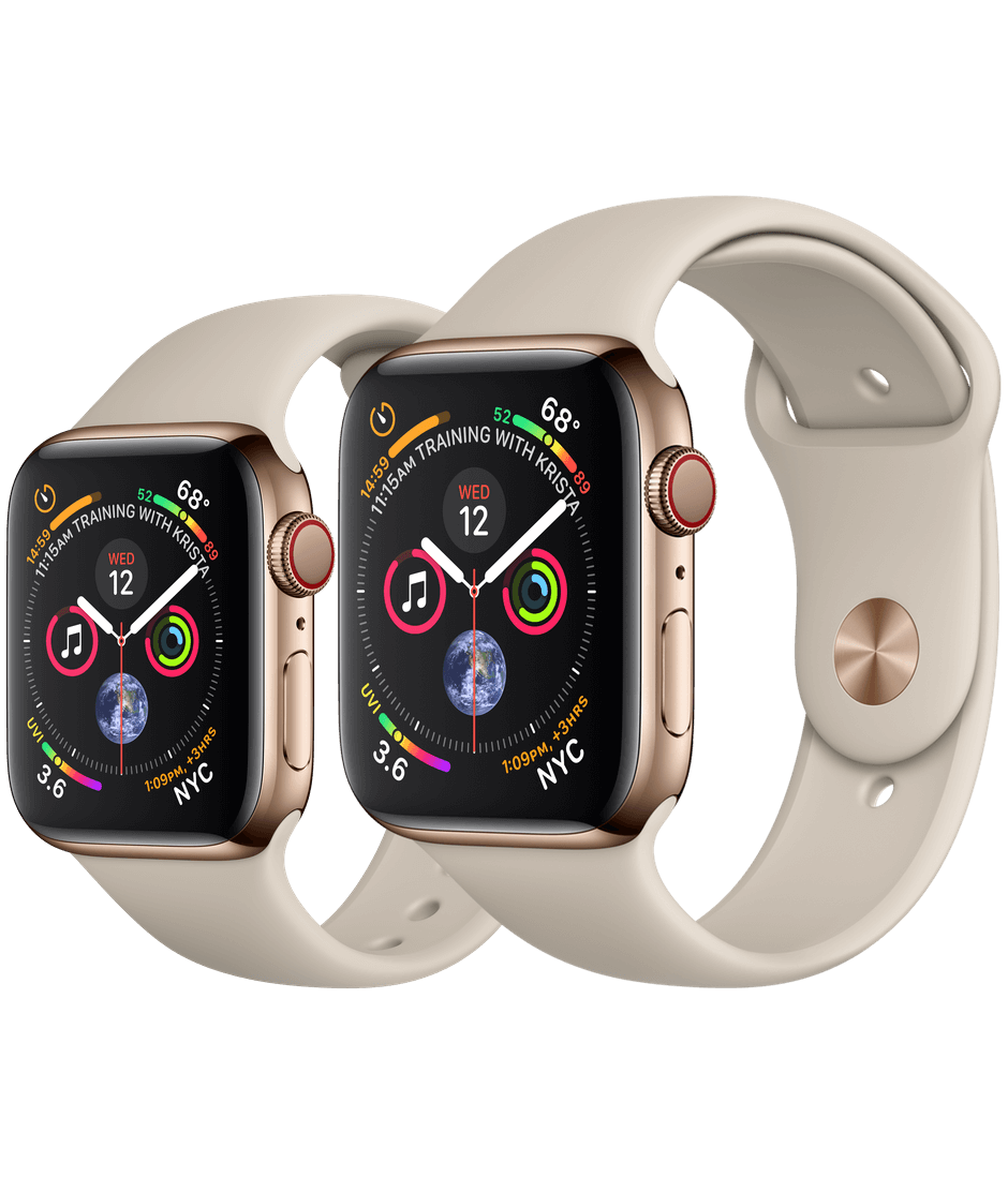 wholesale dealer 7d6a2 70c73 Apple Watch Gold Stainless Steel Case with Stone Sport Band