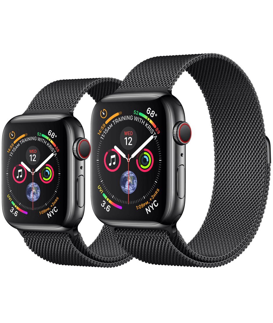 finest selection 6d5d5 b1da0 Apple Watch Space Black Stainless Steel Case with Space Black Milanese Loop